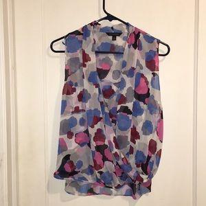 BANANA REPUBLIC MP abstract color blouse